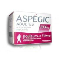 ASPEGIC ADULTES 1000 mg, poudre pour solution buvable en sachet-dose 20 à BAUME-LES-DAMES