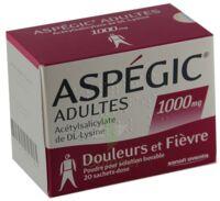 ASPEGIC ADULTES 1000 mg, poudre pour solution buvable en sachet-dose 15 à BAUME-LES-DAMES
