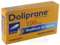 DOLIPRANE 200 mg Suppositoires 2Plq/5 (10) à BAUME-LES-DAMES