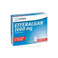 Efferalgan 1000 mg Comprimés pelliculés Plq/8 à BAUME-LES-DAMES