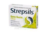 STREPSILS CITRON SANS SUCRE, pastille édulcorée à l'isomalt, au maltitol et à la saccharine sodique à BAUME-LES-DAMES