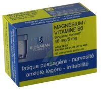 MAGNESIUM/VITAMINE B6 BIOGARAN CONSEIL 48 mg/5 mg, comprimé pelliculé à BAUME-LES-DAMES