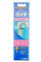 BROSSETTE DE RECHANGE ORAL-B SENSITIVE CLEAN x 3 à BAUME-LES-DAMES