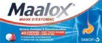 MAALOX MAUX D'ESTOMAC HYDROXYDE D'ALUMINIUM/HYDROXYDE DE MAGNESIUM 400 mg/400 mg SANS SUCRE FRUITS ROUGES, comprimé à croquer édulcoré à la saccharine sodique, au sorbitol et au maltitol à BAUME-LES-DAMES