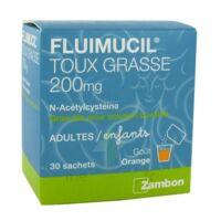 FLUIMUCIL EXPECTORANT ACETYLCYSTEINE 200 mg SANS SUCRE, granulés pour solution buvable en sachet édulcorés à l'aspartam et au sorbitol à BAUME-LES-DAMES
