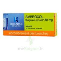 AMBROXOL BIOGARAN CONSEIL 30 mg, comprimé sécable à BAUME-LES-DAMES