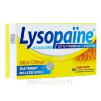 LYSOPAÏNE MAUX DE GORGE CETYLPYRIDINIUM LYSOZYME MIEL CITRON SANS SUCRE, comprimé à sucer édulcoré au sorbitol et à la saccharine à BAUME-LES-DAMES