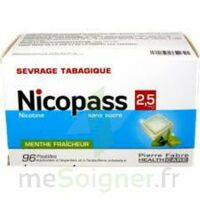 Nicopass 2,5 mg Pastille menthe fraîcheur sans sucre Plq/96 à BAUME-LES-DAMES