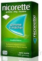 NICORETTE 2 mg Gom à mâcher médic sans sucre menthe fraîche Plq/30gom à BAUME-LES-DAMES