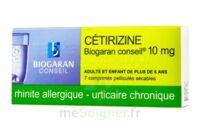 CETIRIZINE BIOGARAN CONSEIL 10 mg, comprimé pelliculé sécable à BAUME-LES-DAMES