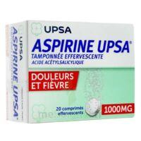 ASPIRINE UPSA TAMPONNEE EFFERVESCENTE 1000 mg, comprimé effervescent à BAUME-LES-DAMES