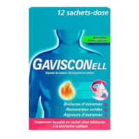 GAVISCONELL Suspension buvable sachet-dose menthe sans sucre 12Sach/10ml à BAUME-LES-DAMES
