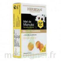 Herbesan - Billes fourrées Miel de Manuka IAA 10+ B/12 à BAUME-LES-DAMES