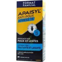 Apaisyl Anti-poux Xpress Lotion antipoux et lente 300ml à BAUME-LES-DAMES