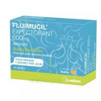 FLUIMUCIL EXPECTORANT ACETYLCYSTEINE 600 mg Glé s buv adultes 10Sach à BAUME-LES-DAMES